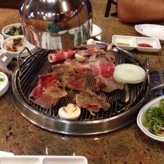 Photo taken at Shin Chon Garden Restaurant by Brian P. on 10/18/2013