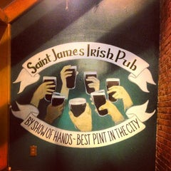 Photo taken at St. James Irish Pub by Paul C. on 4/4/2013