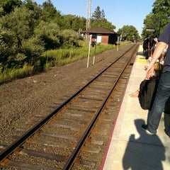 Photo taken at LIRR - Amagansett Station by Fred W. on 8/4/2013