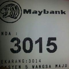 Photo taken at Maybank Section 5 by Fauzana K. on 4/26/2013