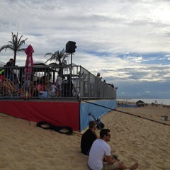 Photo taken at Quiksilver Pro France (Plage des Culs Nus) by Pedro C. on 10/1/2013