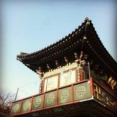 Photo taken at 보문사 (普門寺) by Ji Ho P. on 1/31/2014
