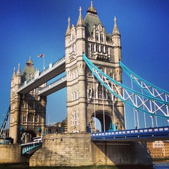 Photo taken at Tower Bridge by Andrew v. on 6/6/2013