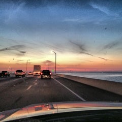 Photo taken at Howard Frankland Bridge by Sean S. on 11/26/2012