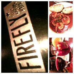 Photo taken at FIREFLY* Tapas Kitchen & Bar by Erik @ S. on 4/7/2013