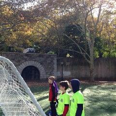 Photo taken at 101 Street Soccer Field by Sarah K. on 11/8/2014
