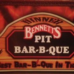 Photo taken at Bennett's Pit Bar-B-Que by Greg C. on 4/17/2013