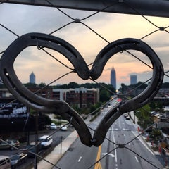 Photo taken at Atlanta BeltLine Corridor over Ponce de Leon by Gina on 7/27/2015