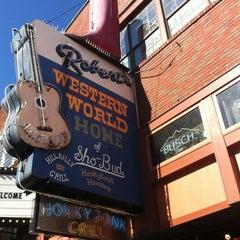 Photo taken at Robert's Western World by Rachel S. on 11/3/2012