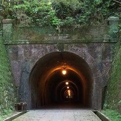 Photo taken at 明治宇津ノ谷隧道 by Katsuhiko Y. on 5/11/2014