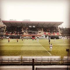 Photo taken at Stadio Velodromo Rino Mercante by Antonio F. on 3/16/2014
