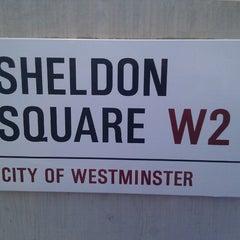 Photo taken at Sheldon Square by Dan B. on 9/26/2012