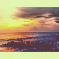 Photo taken at Tanah Lot Beach by Ghassan T. on 12/9/2012