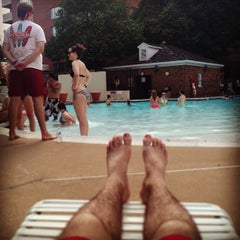 Photo taken at River Place Pool by Nick T. on 6/1/2013