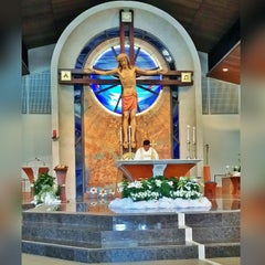 Photo taken at Our Lady of Mount Carmel by 😎 Marlowe 😜 on 4/5/2015