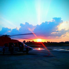 Photo taken at Chevron Hangar by Pu Vatcharapong D. on 9/19/2012