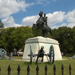 Photo taken at Andrew Jackson Statue by Sam G. on 8/28/2015
