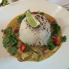 Photo taken at Wagamama by Chris K. on 4/22/2014