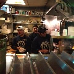 Photo taken at Mamoun's Falafel by Rick R. on 12/29/2012