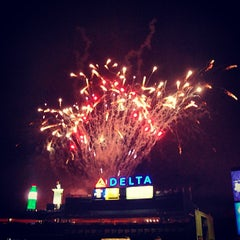 Photo taken at Turner Field by Ella F. on 7/5/2013