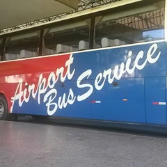 Photo taken at Airport Bus Service by Bruna B. on 10/9/2013