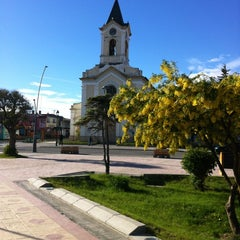 Photo taken at Plaza de Armas de Puerto Natales by Nelson G. on 11/15/2012