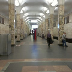 Photo taken at metro Avtozavodskaya by Vladimir S. on 5/10/2013
