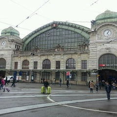 Photo taken at Basel SBB Railway Station (ZDH) by Funda G. on 3/18/2013