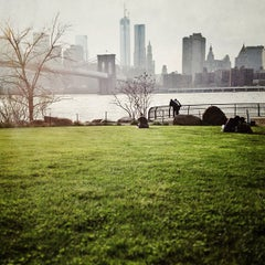 Photo taken at Brooklyn Bridge Park by Lisa A. on 4/24/2013
