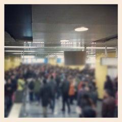 Photo taken at 地铁海淀黄庄站 Subway Haidian Huangzhuang by Julien G. on 11/23/2012