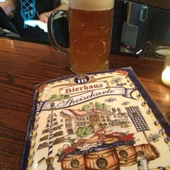 Photo taken at Hofbräu Bierhaus NYC by Molly Anne K. on 3/12/2013