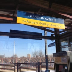 Photo taken at Franklin Avenue LRT Station by Cat H. on 12/22/2012