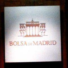 Photo taken at Bolsa de Madrid by Marcelino H. on 1/23/2015