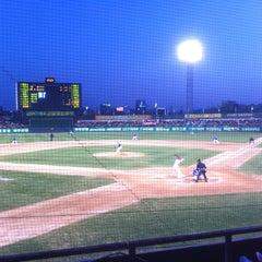 Photo taken at 무등야구장 (Mudeung Baseball Stadium) by hoho on 4/26/2013