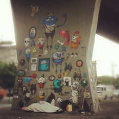 Photo taken at Museu Aberto de Arte Urbana by Mayara N. on 11/14/2012