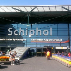 Photo taken at Amsterdam Airport Schiphol (AMS) by Andrey N. on 7/15/2013