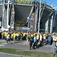 Photo taken at Brøndby Stadion by Kim L. on 5/16/2013