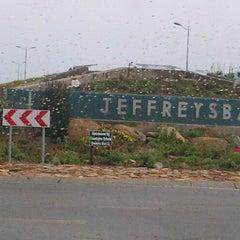 Photo taken at Jeffreys Bay by Debi K. on 3/30/2013