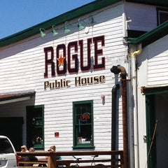 Photo taken at Rogue Ales Public House by Mike M. on 7/3/2013