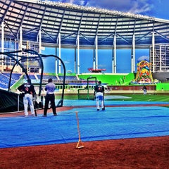 Photo taken at Marlins Park by Steven D. on 4/26/2013