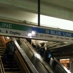 Photo taken at MBTA Government Center Station by Jake S. on 12/16/2011