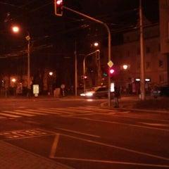 Photo taken at Skácelova (tram, bus) by Honza T. on 12/19/2011