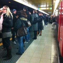 Photo taken at Metro Porta Romana (M3) by Gloria S. on 12/13/2011