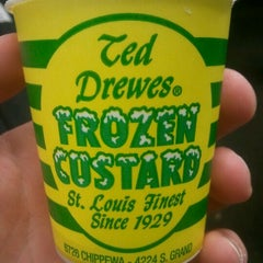 Photo taken at Ted Drewes Frozen Custard by Andrew M. on 3/2/2012
