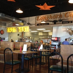 Photo taken at Longhorn Cafe by James D. on 1/2/2012