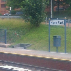 Photo taken at Hyde Park Tram Stop by Guy H. on 7/21/2011