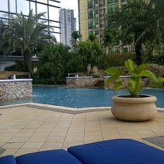 Photo taken at Swimming Pool - The Ritz Carlton 5th Floor Kuningan by Yesi S. on 1/22/2012