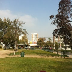 Photo taken at Plaza Guillermo Franke by Claudio G. on 5/9/2012
