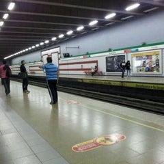 Photo taken at Metro Santa Isabel by Francisca M. on 4/13/2012