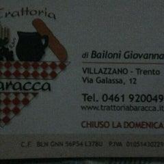 Photo taken at Trattoria alla Baracca by Daniele N. on 3/13/2012
